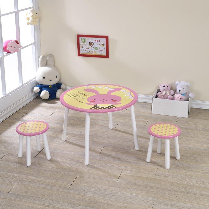 生活大發現-DIY家具-兔兔桌椅組/茶几/邊桌/兒童桌/書桌