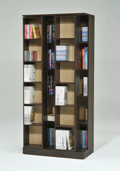 生活大發現-DIY家具-全新日式雙排活動書櫃 白 胡桃 櫸木