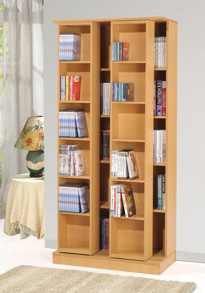 生活大發現 全新日式雙排活動書櫃 白 胡桃 櫸木
