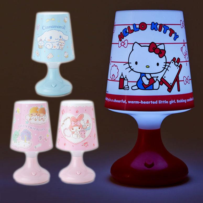 [聖誕專區]KITTY美樂蒂雙子星大耳狗七彩小夜燈聖誕精品系列電池USB兩用767337海渡