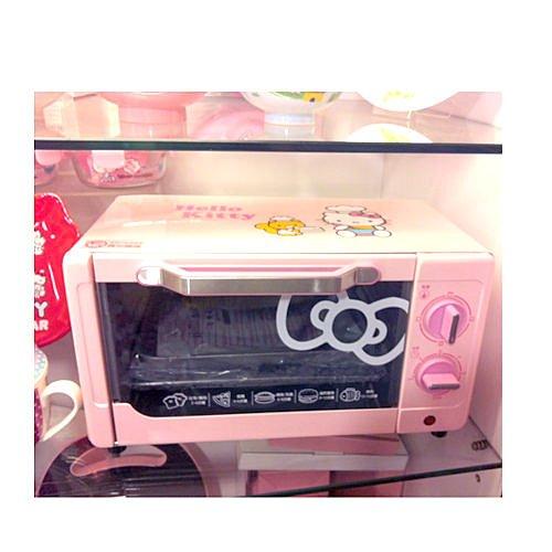 【真愛日本】14043000001 電烤箱-與松鼠粉 三麗鷗 Hello Kitty 凱蒂貓 廚房電器用品 家電用品
