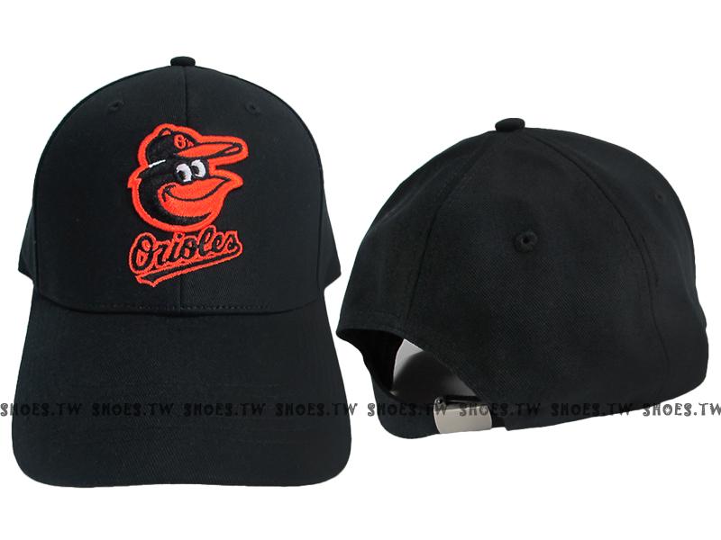 Shoestw【5232001-900】MLB 棒球帽 調整帽 老帽 金鶯隊 黑 凸繡