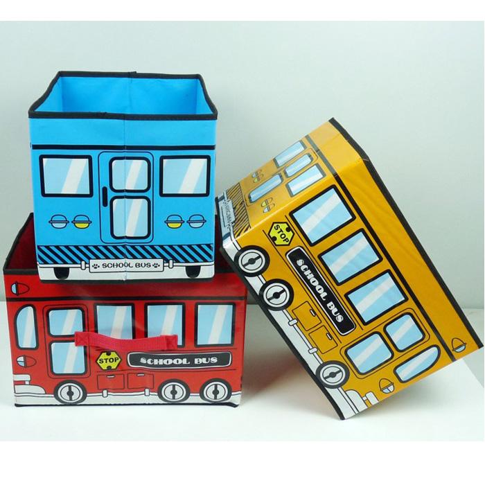 tangyizi輕鬆購【DS136】車子收納椅公車收納箱/玩具收納箱收納凳摺疊收納椅