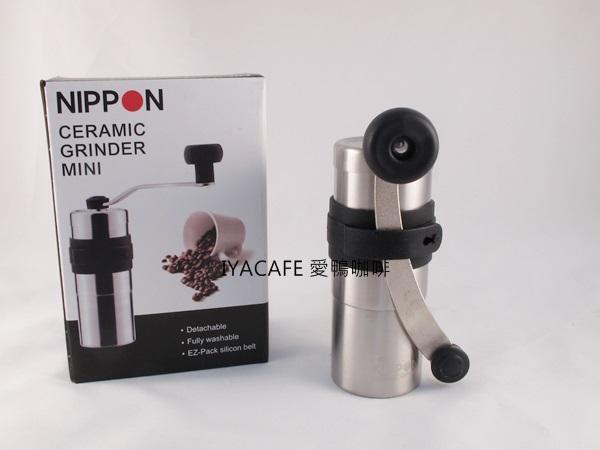 《愛鴨咖啡》Nippon 手搖磨豆機20g 陶瓷刀盤 贈清潔毛刷 刀片與PORLEX同廠製做