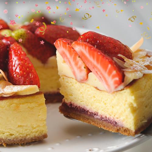 ❤滿$799送搭啵s購物袋❤就是現在!!台灣草莓季正式回歸開賣❤每日限量20份❤6吋蜜戀草莓炙乳酪❤將濃濃奶香卡士達打入乳酪中,綿密口感欲罷不能外,乳酪底部加入覆盆子果泥大加分,炙烤過的蛋糕表面,與當日直送台灣草莓結合,香氣四溢的香甜草莓與乳酪交織,碰撞出酸甜的愛情滋味!草莓狂人~殺~❤特別感謝報章雜誌【歡樂智多星】【上班這黨事】【綜藝大熱門】團購美食大推薦