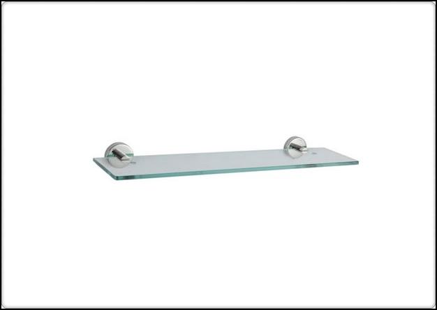 衛浴配件 單層置物平台 玻璃平台 香皂盤 衛生紙架 置衣架 304不鏽鋼(拋光) 寬52 x 深12 x 高0.8cm  YC-2401