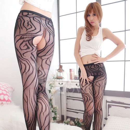 愛的蔓延 新爆點!流線波紋+開襠設計連褲襪 性感睡衣 情趣睡衣 530587-832