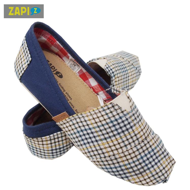 ZAPI休閒懶人鞋-格子藍