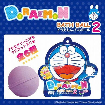 日本 哆啦A夢沐浴球(葡萄) 單顆入 入浴劑 沐浴劑 泡澡球 小叮噹【N201684】