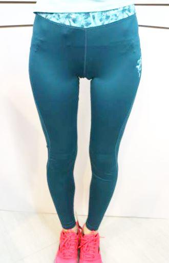 [陽光樂活] Kappa 女 慢跑緊身褲 吸濕 排汗 速乾 防污 免燙 FD52-Y001-4 綠(特價出清)