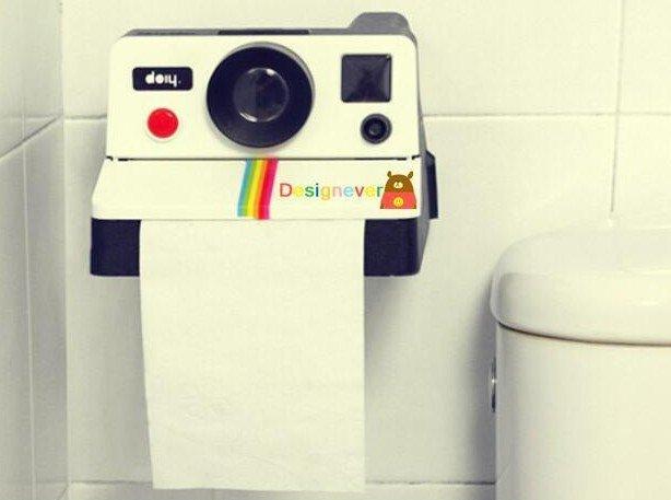 =優生活=創意復古可愛相機面紙筒 廁所卷筒衛生紙 家用紙巾盒 抽紙盒 拍立得面紙