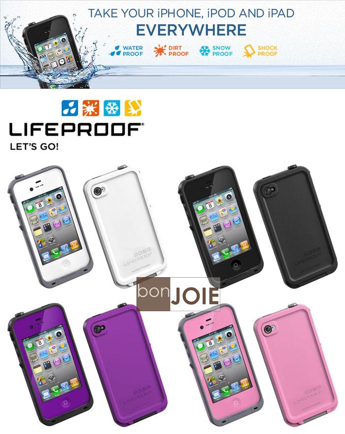 ::bonJOIE:: 美國進口 LifeProof Store iPhone 4/4S Case–Gen2 第二代四防手機保護套 (黑、白、紫、粉紅色) 保護殼 手機蓋 手機殼