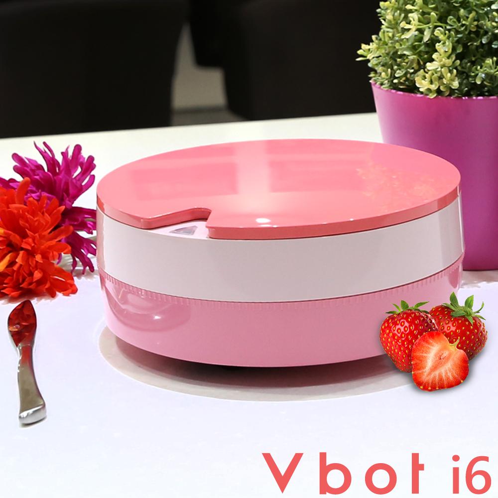Vbot 二代i6蛋糕機器人 超級鋰電池智慧掃地機(極浄濾網型)(草莓)