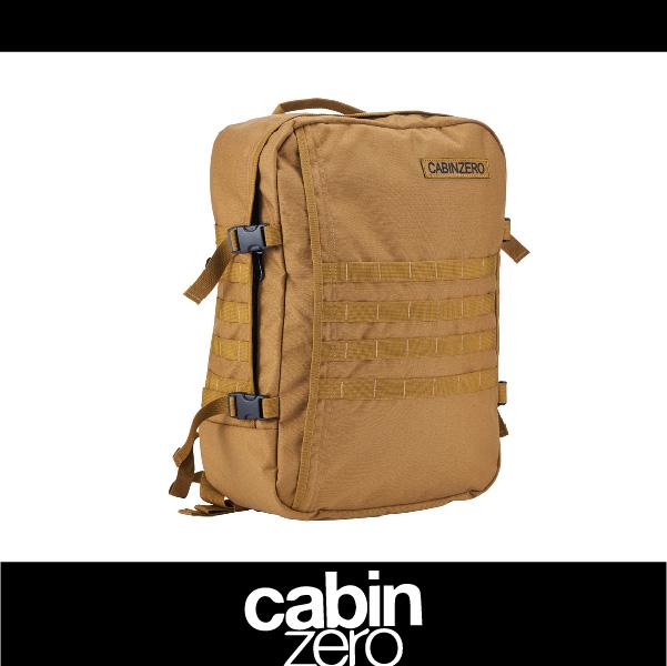 【買就送隨身腰包】CABIN ZERO 161-CZ091402 橫條 輕量44L後背包 登機 假期 公事 手提 軍事版 可上密碼鎖 國際背包身分證 卡其色 萬特戶外運動
