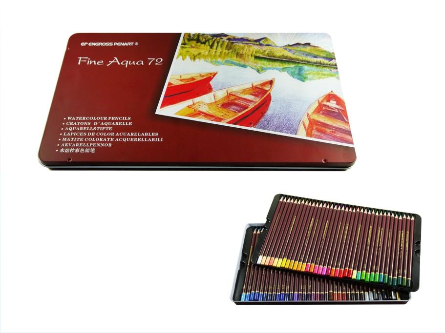 MONA 72色水性色鉛筆鐵盒