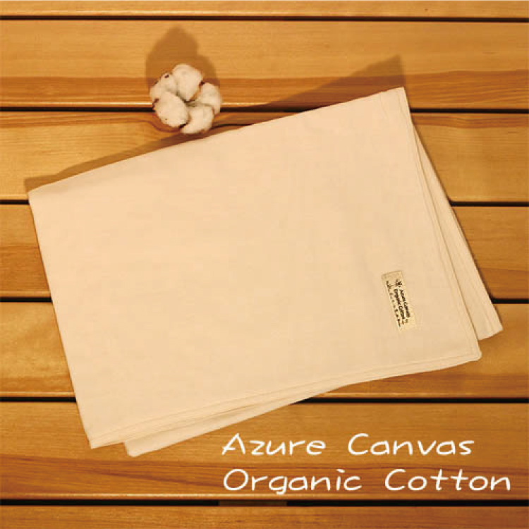 【大成婦嬰】藍天畫布-極細緻-40支紗精梳 有機棉紗布浴巾 台灣織造