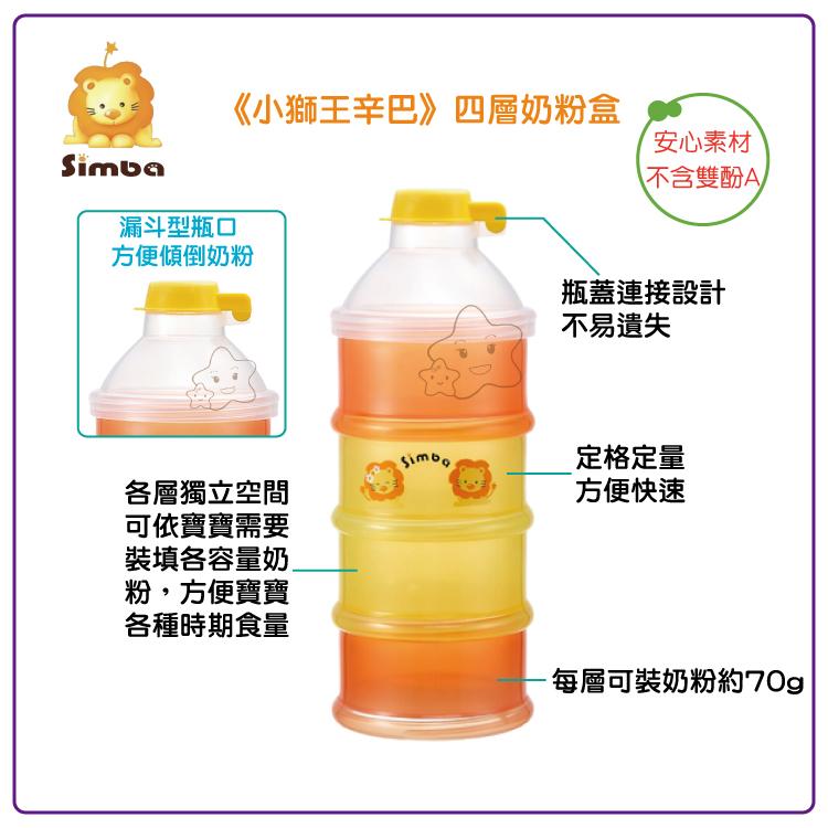 【大成婦嬰】Simba 小獅王 四層奶粉盒 (S1211)
