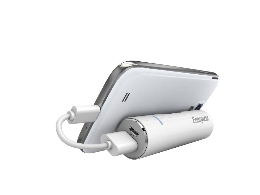 手機座充-圓柱立架式-Energizer®勁量行動電源-2600mAh-UE2601-支援Samsung, LG, Sony, hTC品牌手機充電