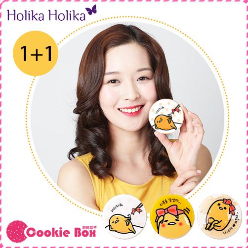 韓國 Holika Holika X Gudetama 蛋黃哥 6合1 氣墊 粉餅 15g 晉久 太陽的後裔*餅乾盒子*