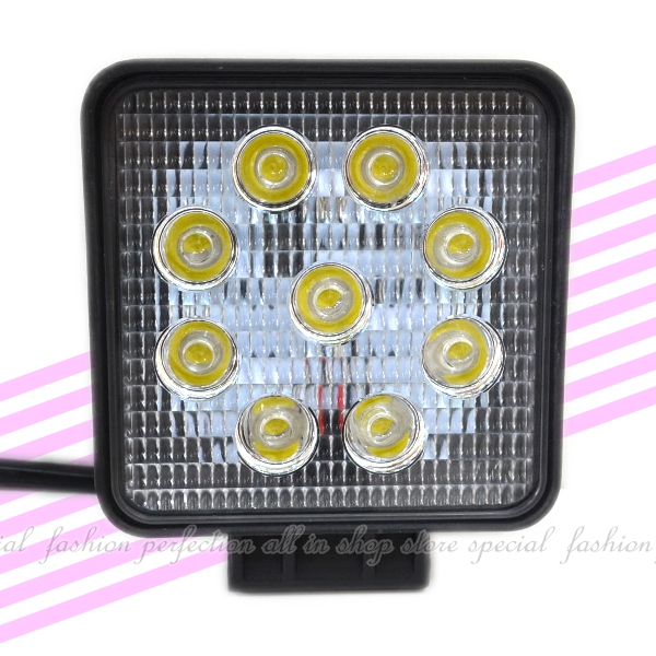 27W 方形LED工作燈 霧燈 日行燈 探照燈 照明燈 舞台燈 倒車燈【DG485】◎123便利屋◎