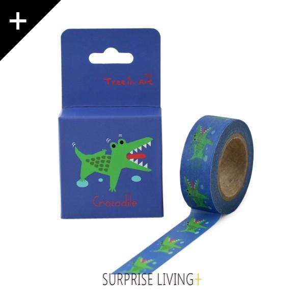 夢想家專用DRAFTING TAPE-萌萌動物和紙紙膠帶-鱷魚 CROCODILE