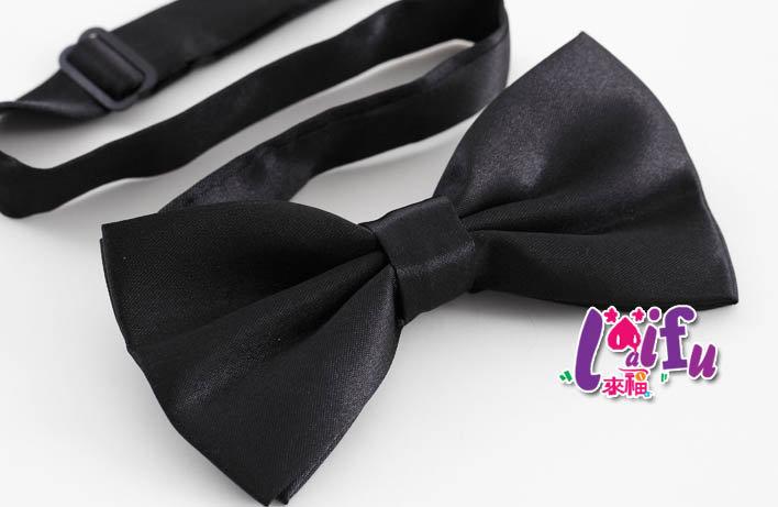 *來福*K402亮面黑色領結結婚領結新郞領結派對糾糾,售價99元