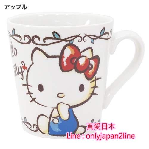 【真愛日本】15081400005馬克杯-KT蘋果   三麗鷗 Hello Kitty 凱蒂貓   馬克杯 水杯  杯子 正品