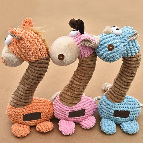 【小樂寵】Elite 毛絨長頸鹿發聲玩具