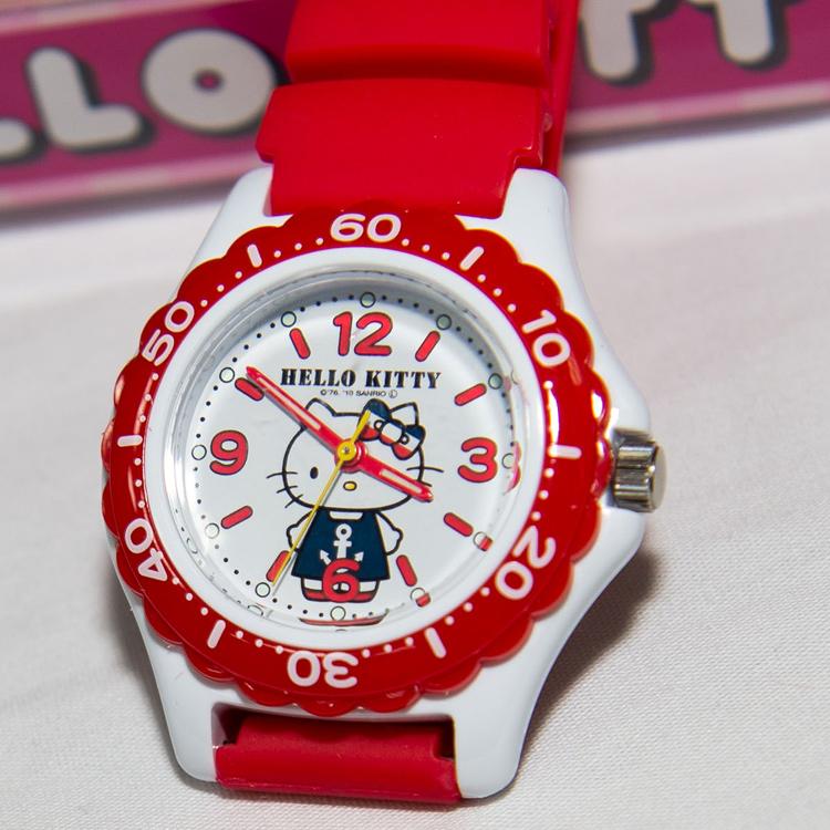 紅色 Hello Kitty 氣壓防水指針式手錶 CITIZEN 星辰錶 日本限定 附精美禮盒