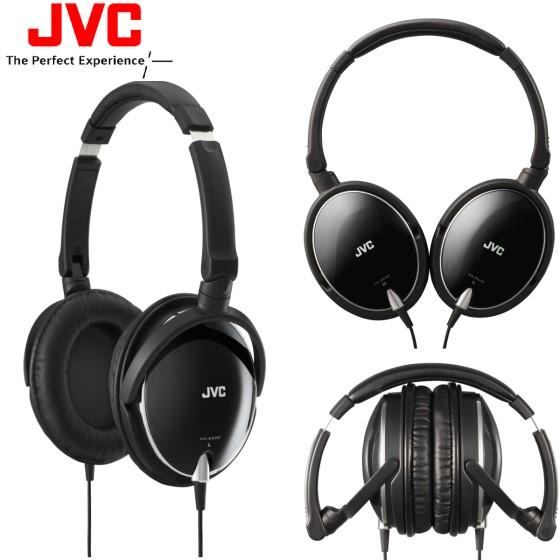 日本 JVC HA-S600 (黑色) 摺疊全罩式立體聲耳機,附收納袋,公司貨,附保卡,保固一年