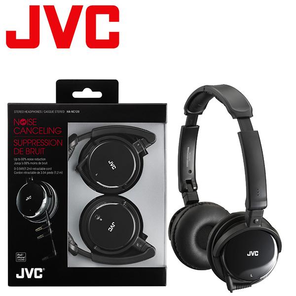 JVC HA-NC120 降噪耳罩式耳機,耳機線可伸縮,公司貨,附保卡一年保固