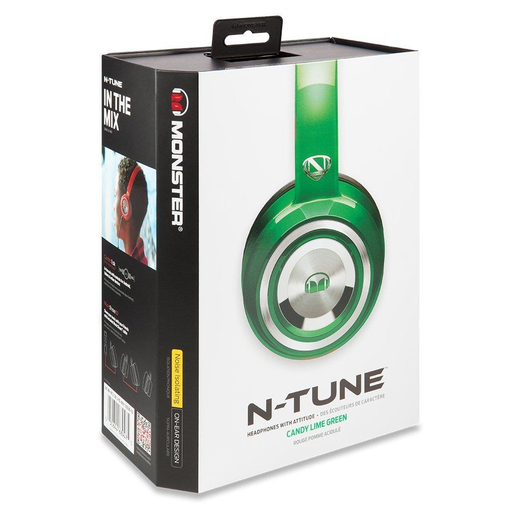 美國 Monster N-TUNE V3 糖果繽紛色彩(綠色),耳罩式線控耳機,公司貨,保固一年