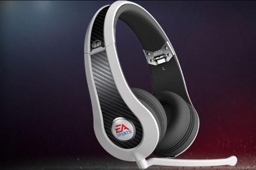 MONSTER & EA SPORTS 聯名款 MVP Carbon (白色)耳罩式 高解析環繞音效 電競遊戲耳機,適PC、Xbox 360、PS3、Wii