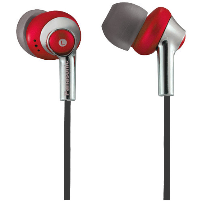Panasonic密閉型耳道式耳機RP-HJE300 ,內附延長線及收納袋,音質佳,高C/P值,出清品,橘紅色