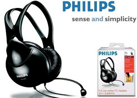PHILIPS SHM1900  輕量型頭戴耳罩式耳機麥克風 ,公司貨保固
