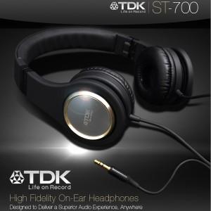 日本 TDK ST700 (ST-700) 折疊頭戴耳罩式耳機 ,公司貨