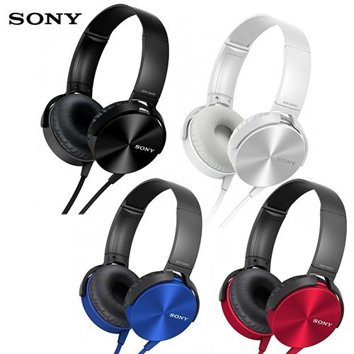 SONY MDR-XB450AP (贈收納袋) 重低音系列 線控麥克風 耳罩式耳機,
