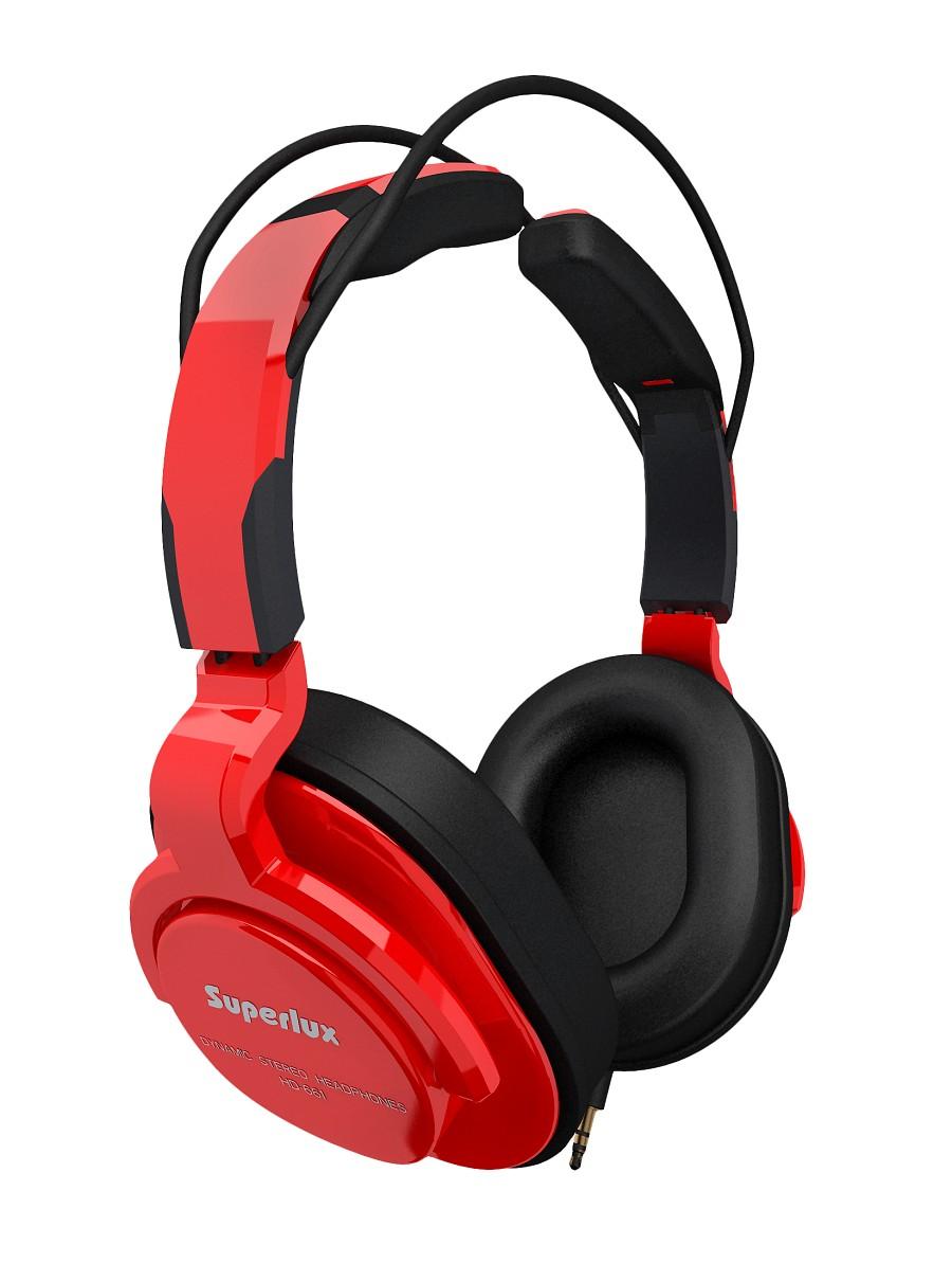 Superlux 舒伯樂 HD661 (紅色).新款全罩式專業監聽級耳機,原廠代理商公司貨,附保卡,保固一年