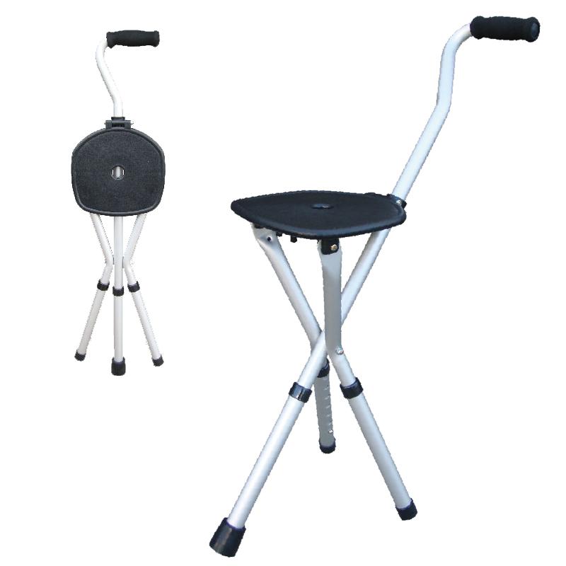 【醫康生活家】杏華 鋁製拐杖椅(重量0.96KG)