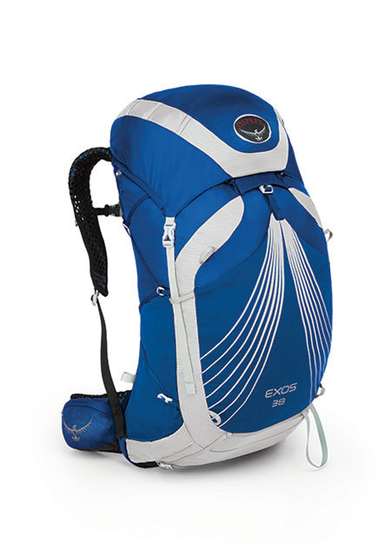 【鄉野情戶外專業】 Osprey |美國|  Exos 38 極速系列登山健行 後背包 超輕量透氣網背後背包/登山包/中背包-海洋藍M _Exos38