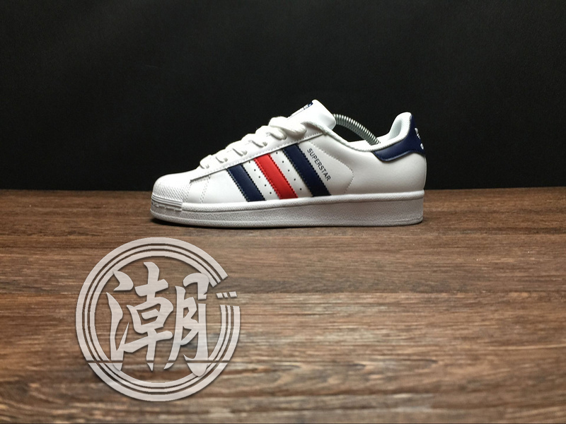 歲末出清Adidas SuperstarII 80S 街頭經典 愛迪達 金標 藍紅 復古百搭 男女 情侶鞋 休閒鞋【T135】