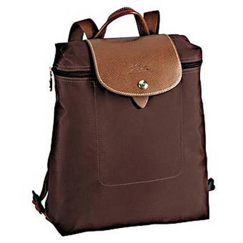 【LONGCHAMP】 LE PLIAGE 咖啡色折疊後背包