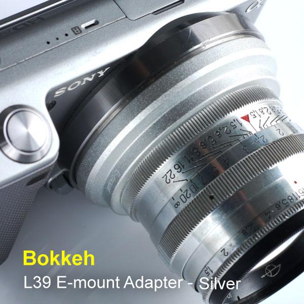 [享樂攝影] 現貨!台灣製! 銀色 L39 LTM M39 鏡頭轉接Sony E-mount 轉接環NEX5 NEX3 VG10 NEX7 5N C3無限遠可合焦