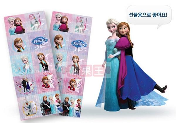 【糖果王】韓國 冰雪奇緣 維他命C片 (水蜜桃口味) 一片10入裝~小朋友最愛的獎勵小物