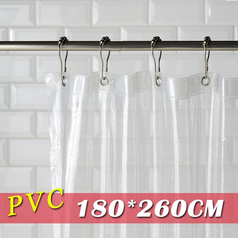 《喨晶晶生活工坊》m&m 默瑪 PVC全透明金屬扣眼防水浴簾 透明隔間簾門簾 阻擋冷氣暖氣 180*260公分