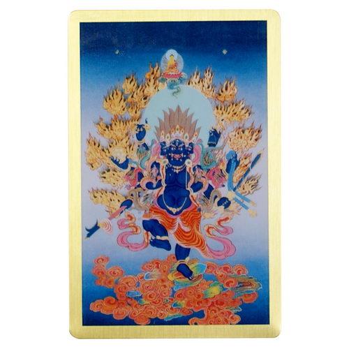 穢跡金剛(烏樞瑟摩明王)-隨身護身卡/唐卡-銅箔(PBC052)
