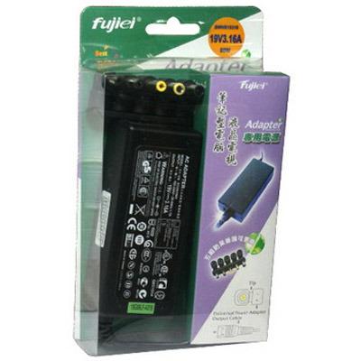 Fujiei 多功用 五合一 防呆接頭 變壓器 輸出:19V 3.16A 筆電變壓器