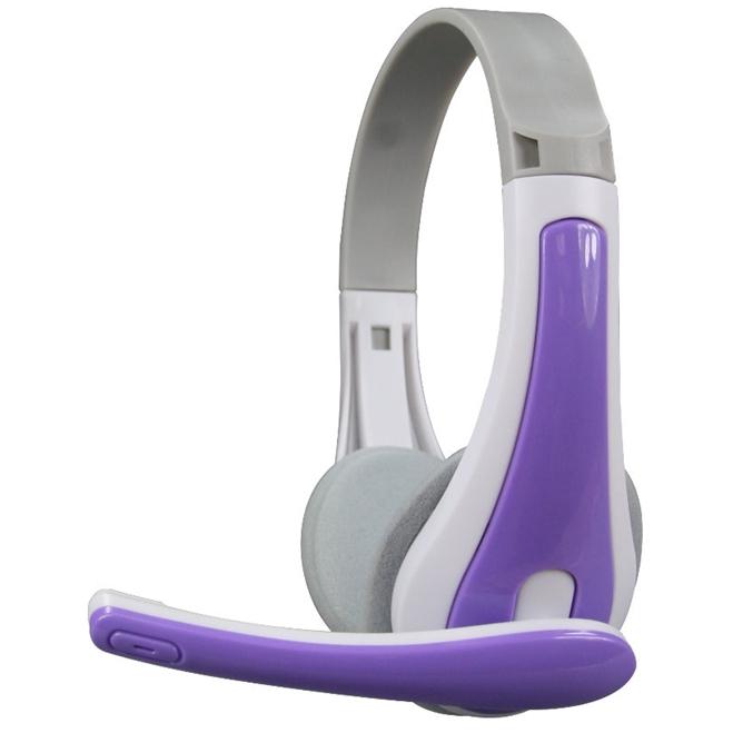 耐嘉 玩色 立體聲耳機麥克風-紫(EM-3630)