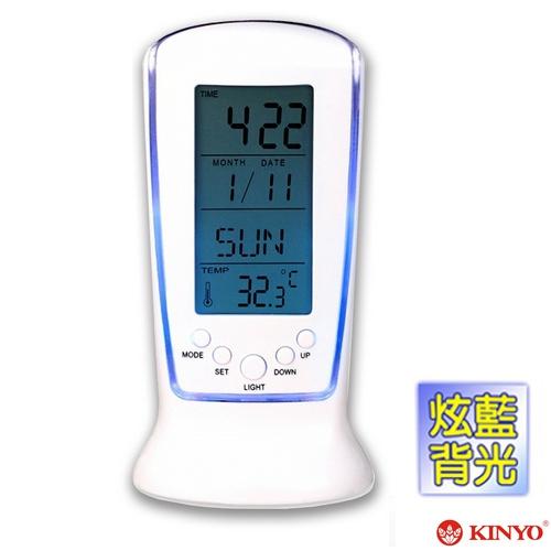 【KINYO】直立式計時萬年曆電子鐘(TD335)