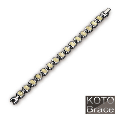 【KOTO】富貴金箔 白鋼 手鍊 / 手鏈 (S-067G)